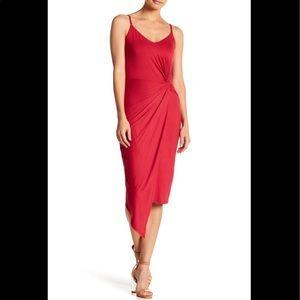 Socialite Twist Front Midi Dress